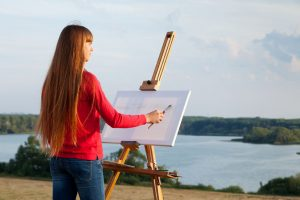 Landscape painting cornwal artist