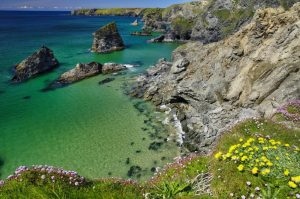 Bedruthan Steps sea view in Cornwall