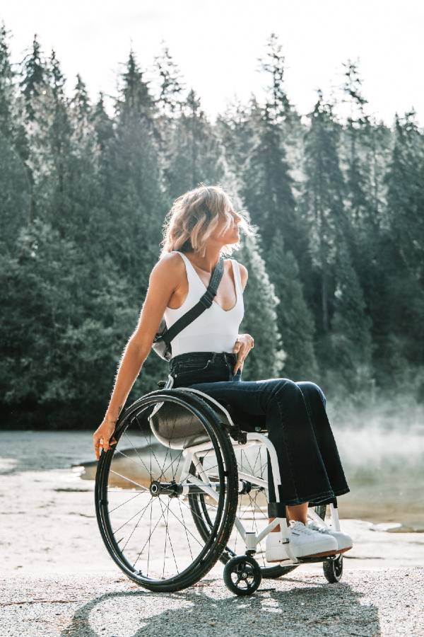 disabled camper in a wheelchair